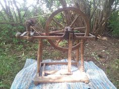This is my newest to me wheels. The style of this wheel is a Tyrolean. The Tyrolean Spinning Wheels were made in a Northern Germanic area. This wheel is. Spinning Wheels, Crafts, Collection, Manualidades, Craft, Crafting, Handicraft, Artesanato, Handmade Crafts