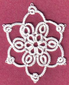Sharon's Tatted Lace: Merry Christmas Snowflake with pattern   http://sharonstattedlace.blogspot.com/2009/12/merry-christmas-snowflake-with-pattern.html