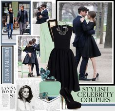 """Most Stylish Celebrity Couples of 2012 OLIVIA PALERMO"" by marikamoshar ❤ liked on Polyvore"