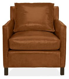 Bram Leather Chair & Ottoman - Recliners & Lounge Chairs - Living - Room & Board