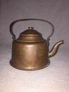 Alte Kanne Kupferkessel Kupferkanne Teekessel Wasserkessel Offen-Kessel Wasserko