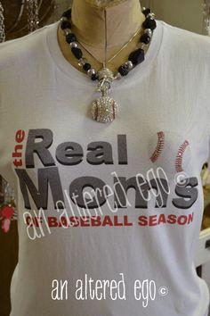 Real Moms of Baseball Tee-baseball mom  sports  real housewives
