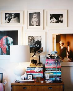 A Million and One Ways to Hang a Gallery Wall: The grown-up version of the posters from your teenage bedroom—a gallery of pop idols.
