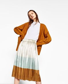 ZARA - WOMAN - SHINY PLEATED SKIRT