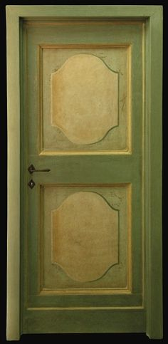 Reproductions of antique italian painted doors - Porte del Passato Hand Painted Walls, Hand Painted Furniture, Painted Doors, Paint Furniture, Italian Doors, Garden Mural, Colorful Interior Design, Old Doors, Paint Designs