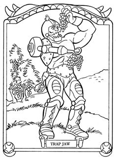 Trap Jaw coloring page
