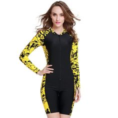 2015 New Fashion Women UPF 50+ Rash Guards Long Sleeve One-Piece Diving  Wetsuit 86c609910