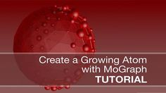 Cinema 4d- Growing Atom with MoGraph Tutorial. In this tutorial we learn how to create a growing atom effect using MoGraph and the Plain Eff...