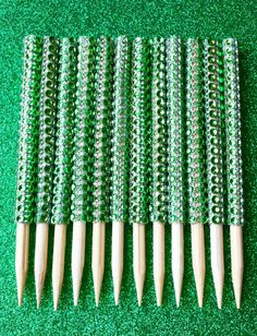 Green Bling Candy Apple Sticks  by LivinCrafty