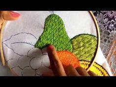 ▶ 40.- Bordado fantasía para pétalo de flor - YouTube
