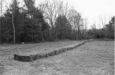 Carl Andre, Joint, vue de l'installation au Windham College, 1968