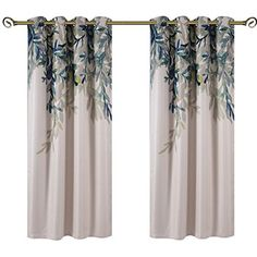 Taisier Home Weeping Leaves Digital Printing Curtains 1 Panel Set 84 Inches Long for Living Room Bedroom Kids Room Fashion Grommet Top Stlye Curtains Curtains 1 Panel, Printed Curtains, Linen Curtains, Home Cooler, Decorative Curtain Rods, Blackout Drapes, Decorate Your Room, Living Room Bedroom, Printing