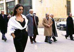 Monica Bellucci photographed by Ferdinando Scianna, Italy, Sicily, Palermo 1991.
