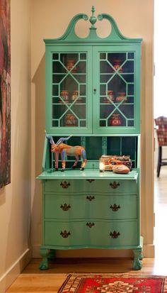 Home Decor - Lacquer update for grandma's secretary by Cheryl Ketner Interiors.