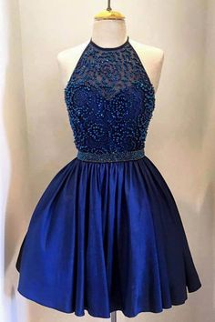 homecoming dresses,2016 homecoming dresses,royal blue homecoming dresses,halter…