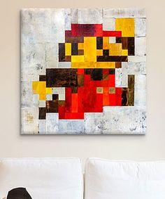 iCanvas Francis Ward Post-Modern Mario Gallery-Wrapped Canvas | zulily