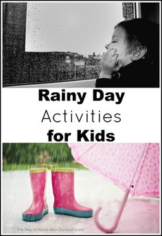 A collection of activities that kids of different ages can do together to help break up a rainy day or other day when you are stuck inside with the kids. Simple activities that do not take a lot of time to prep!