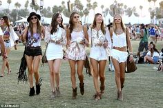 Company: Alessandra was joined by her a group of friends as they walked around the festiva...