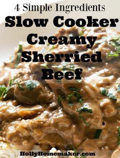 Slow Cooker Sherry Beef | Holly Homemaker Slow Cooker Recipes, Crockpot Recipes, Mixing Bowls, Homemaking, Crock Pot, Tuesday, Tutorials, Hacks, Dishes