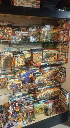 Action Figure Display, Action Figures, Collection Displays, Gi Joe, Arcade,  Vintage Toys, Transformers, Nostalgia, Retail