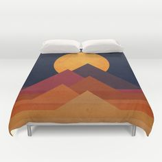 Buy ultra soft microfiber Duvet Covers featuring Full moon and pyramid by Budi Kwan. Hand sewn and meticulously crafted, these lightweight Duvet Cover vividly feature your favorite designs with a soft white reverse side.
