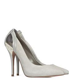 Reiss - Gioia, Cut Out Raffia Detail Court Shoe