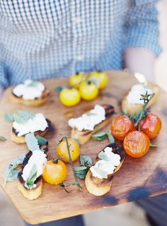 Grilled Tomatoes and Burrata | JenHuangPhoto.com | Poppies and Posies Garland | Sweet Summer Nights: A Santa Barbara Barbecue w/Michael Stuart with Some Pottery Barn Love