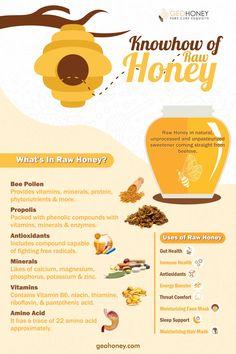 Honey Bee Pollen, Honey Bees, Health And Nutrition, Health Tips, Honey Bee Facts, Honey Health Benefits, Honey Packaging, Raw Honey, Pure Honey
