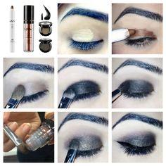 NYX eyeshadow step-by-step