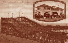 Old Redondo Beach roller coaster postcard.