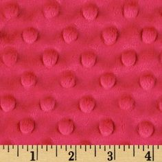 Minky Cuddle Dimple Dot Watermelon from @fabricdotcom  This adorable, soft and cuddly fabric has a smooth minky surface with dimple-like embossing, 3 mm pile, 400 grams and is perfect for creating blankets, baby accessories, plush toys, quilt backings and more!