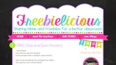 Freebielicious | blog design