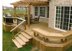 77 Cool Backyard Deck Design Ideas https://www.futuristarchitecture.com/18722-backyard-decks.html #deckdesigner