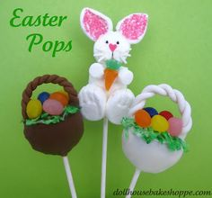 Click here for a step-by-step tutorial to learn how to make Donut Hole Easter Basket Pops!