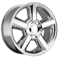 Chevrolet Tahoe - Replica Wheel - Chrome With Cap by Factory Reproductions - 3108530651 Oem Wheels, Chrome Wheels, Custom Wheels, Silverado Wheels, Chevy Silverado 1500, Chevy 1500, Truck Rims, Suv Trucks, Chevrolet Tahoe