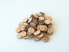 NEW  Wood Buttons  50 Buttons  BlackJack Tree by forestinspiration