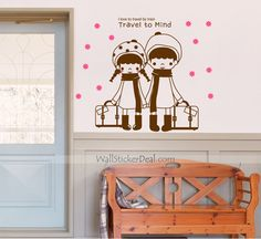 Travel To Mind Wall Sticker Kids Wall Decals, Wall Sticker, Train Travel, Mindfulness, Stickers, Cute, Home Decor, Decoration Home, Room Decor