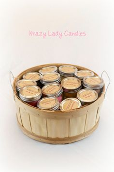 Mason Jar Soy Candle 4 oz Any twelve 12... You by KrazyLadyCandles, $68.00   unique wedding favour, custom party favor soy candle