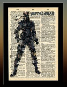 Metal Gear Solid Inspired Solid Snake Vintage by indiefrogstudios