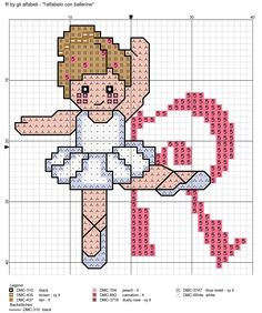 alfabeto con ballerine: R