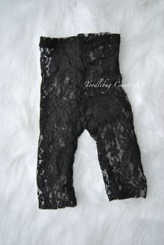 Newborn Photography Pants  Upcycled Black by ToodleBugCreations