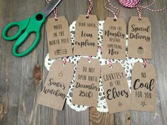 Christmas Tag Pack 2.0    Set of 8 Tags    Funny by LaceandMasonCo