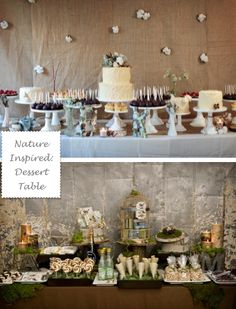 cake pops and cupcakes and cakes around groom table