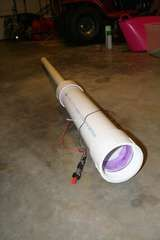 One variation of a dyi potato gun (with bbq ignighter) Simple design