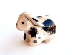 Rabbit Handmade Miniature Figurine-Spotted