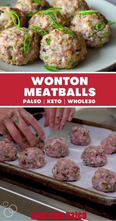 Whole30 Dinner Recipes, Vegan Dessert Recipes, Paleo Dinner, Paleo Recipes, Low Carb Recipes, Whole 30 Meatballs, Whole 30 Dessert, Nom Nom Paleo, Whole 30 Recipes