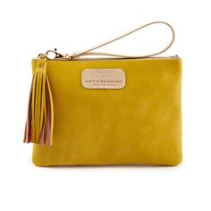 Berry Mini Wristlet in Canary Yellow