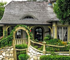 "WHAT THE HECK IS A FAIRYTALE COTTAGE, ANYWAY?, July 6, 2011 / Linda Hartong. ""It's defining characteristic might best be described as the kind of house you'd imagine Seven Dwarves or some happy Hobbits heading home to at the end of a hard day of work. I see them all over Carmel (not the hobbits, the houses)  but have never really thought about examining the parts that make up the whole.  Lilacs and Laughter is one such cottage."""