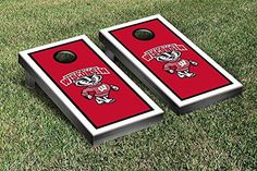 Wisconsin Badgers Regulation Cornhole Game Set Border Version * You can find out more details at the link of the image.(It is Amazon affiliate link) #la