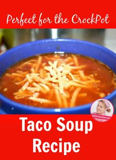 "Like Tweet +1 Pin I recently promised to post my taco soup recipe, as it's one of my favorites that often makes its way into our weekly meal plans. This is one of those ""dump it in"" recipes that basically just needs to be heated up, but gets better if it slow cooks for a …"